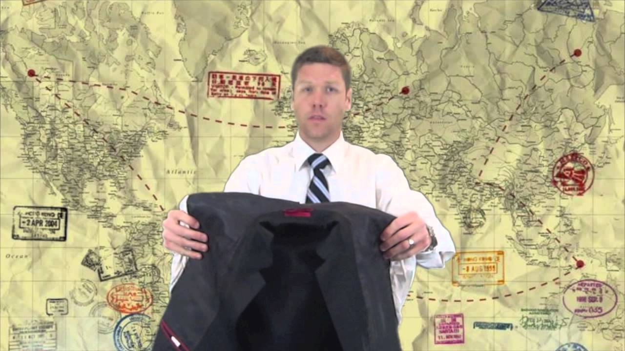How to roll a suit How to pack a suit Inside Out Method...