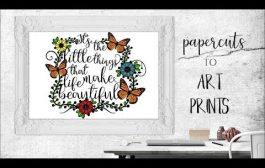 How to make Art Prints (Paper cutting) | Editing and printing bas...