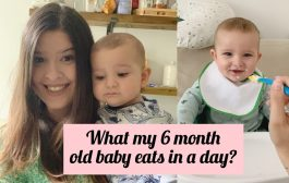 WHAT MY SIX MONTH OLD BABY EATS IN A DAY...