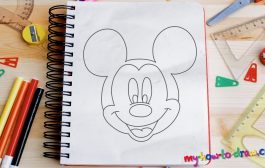 How to draw Mickey Mouse - Easy step-by-step drawing lessons for ...