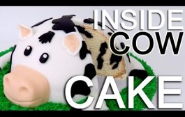 How-To Make A COW CAKE with a INSIDE Cow Pattern!...