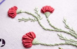 Hand Embroidery | Flower Designs for Dresses | HandiWorks #56...