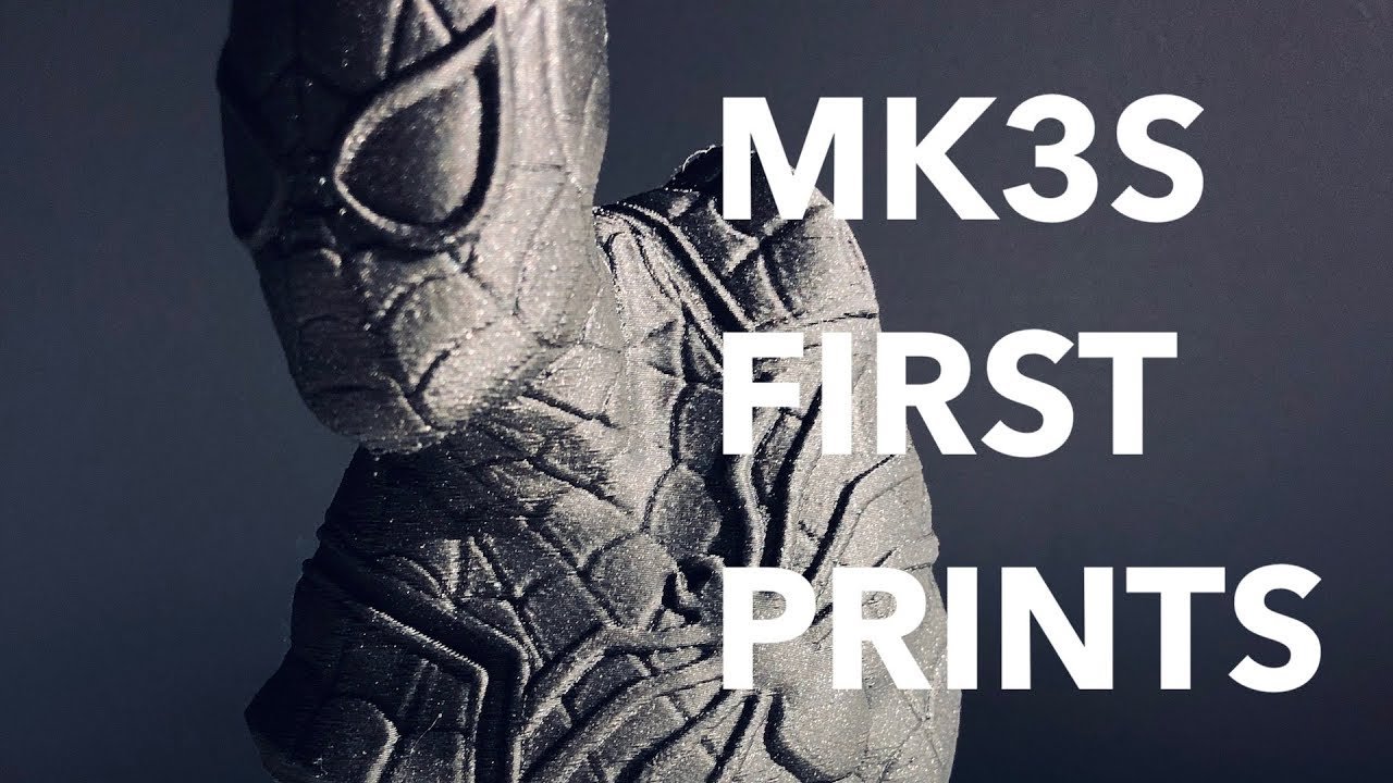 My first couple of 3d prints hot off my new Prusa MK3S...