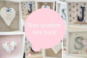 Ikea hack, How to make a shadow box / box frame | Dainty diaries...