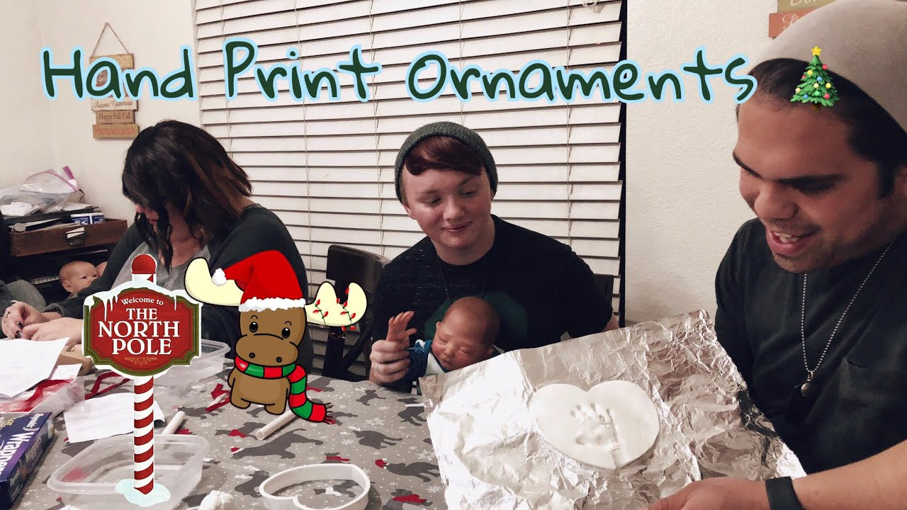 Making Reborn Hand Prints In Clay Christmas Ornaments...
