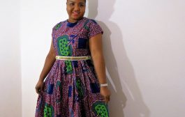 Diy African print pleated dress...