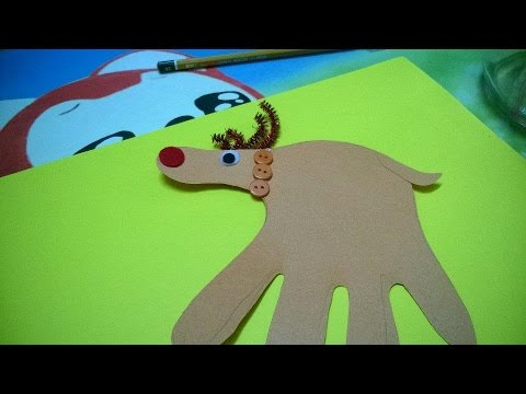 Christmas Ornaments For Kid - Handprint Reindeer Craft...