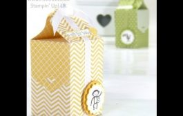 Baby Bag Tutorial using Stampin' Up! Tag Topper Punch...