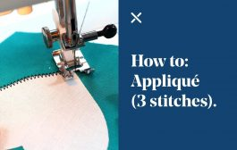 How To: Appliqué (3 different stitches)...