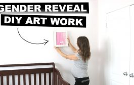 DIY Gender Reveal Art Work Idea | Jenelle Nicole...
