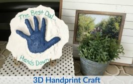 Father's Day 3D Handprint Craft...