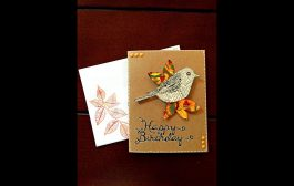 Creating a Fall Birthday Card using Gelli® Prints...