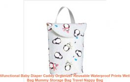 Multifunctional Baby Diaper Caddy Organizer Reusable Waterproof P...