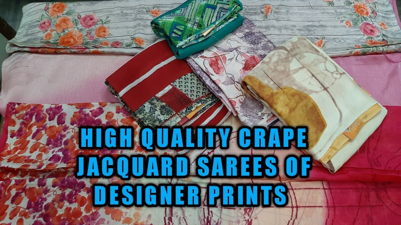 DESIGNER HIGH QUALITY CRAPE SAREE ON DIGITAL,FLORAL PRINTS #JACQU...