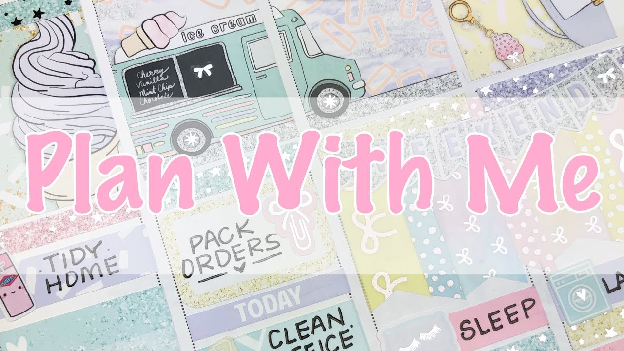 Plan With Me August 19  - August 25 / Feat Scribble Prints Co...