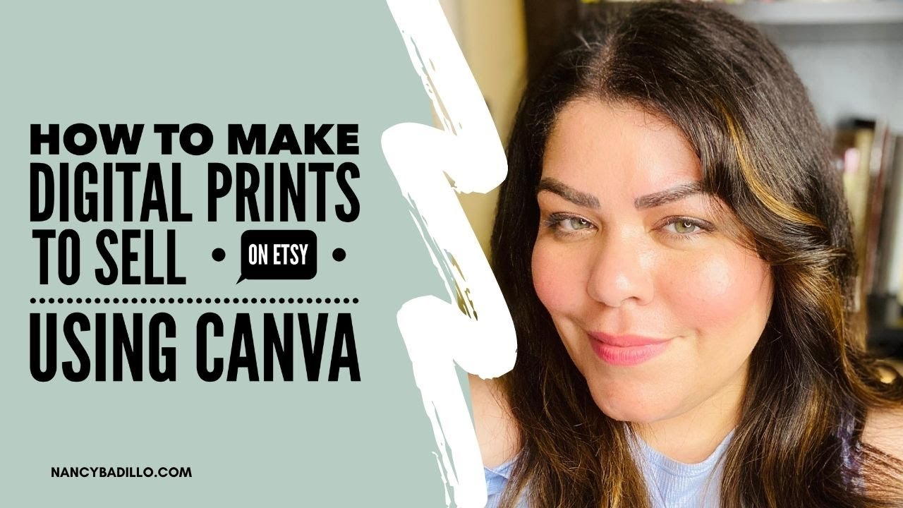 How To Make Digital Prints To Sell On Etsy Using Canva | Etsy Tut...
