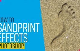 Create realistic sand prints in Photoshop...