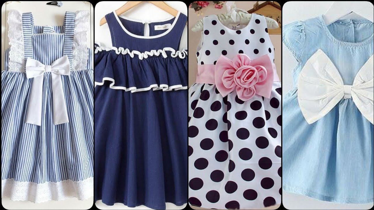 Top stylish floral print baby frock designs daily wear comfortabl...