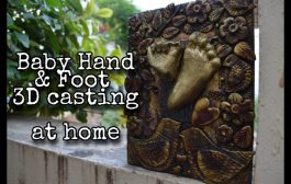 Baby hand and foot print 3D casting AT HOME| easy | DIY | Home ma...