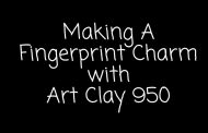 How To Make A Fingerprint Charm with Art Clay 950 Sterling Silver...