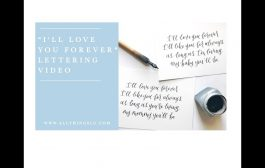 """""""I'll Love You Forever"""" Calligraphy Prints..."""