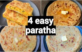 4 types of easy & quick paratha   different types of paratha ...